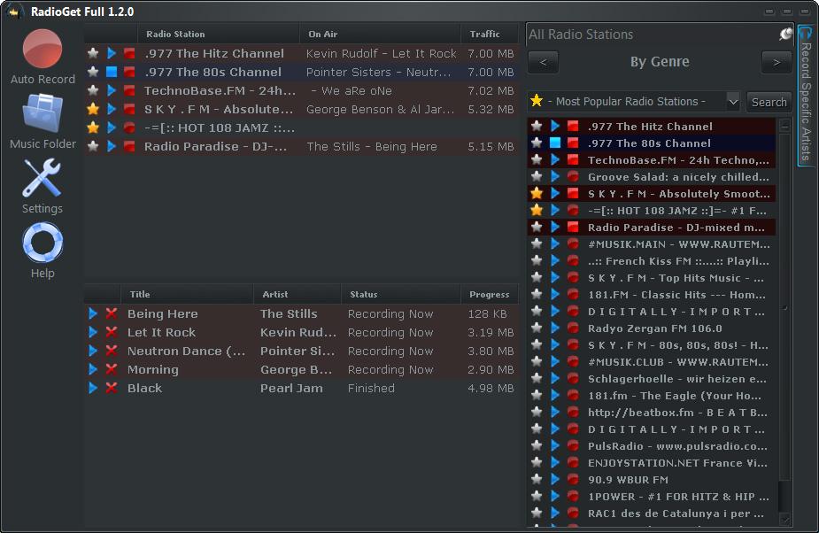Click to view RadioGet Full 1.3.5 screenshot